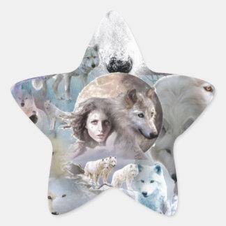 Arctic Wolf Star Sticker