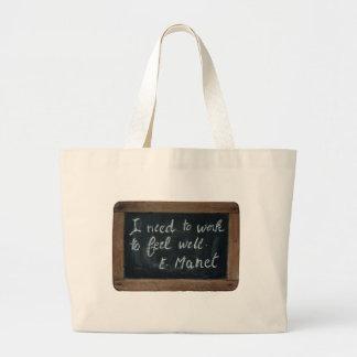 ardoise #07 - Manet's Quote Jumbo Tote Bag