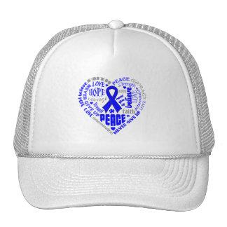 ARDS Awareness Heart Words Hats