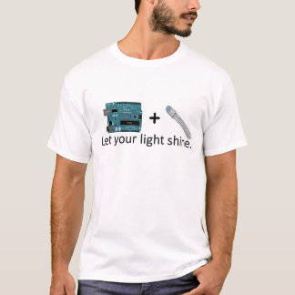 Arduino + RGB LED = Inspiration T-Shirt