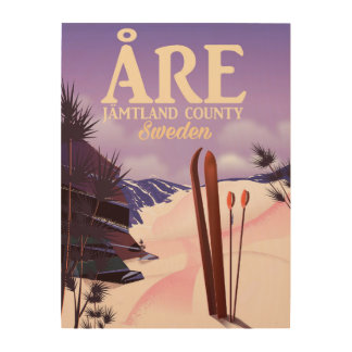 Åre Sweden ski travel poster