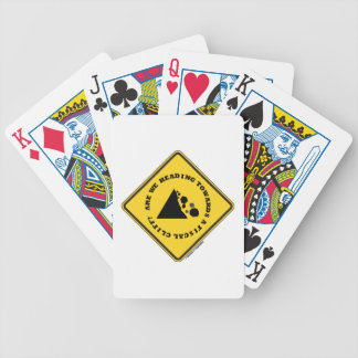 Are We Heading Towards A Fiscal Cliff Econ Sign Playing Cards