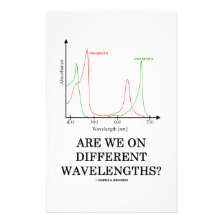 Are We On Different Wavelengths? (Chlorophyll) Stationery Paper