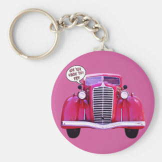 Are we there yet? basic round button key ring
