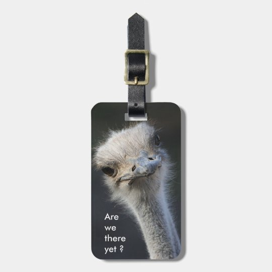 Are we there yet ? luggage tag