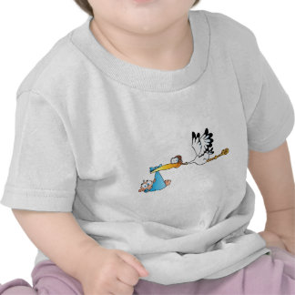 ARE WE THERE YET -STORK AND BABY TEE SHIRT