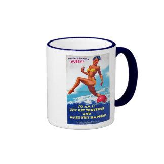 Are You a Beading Hussy? Ringer Mug