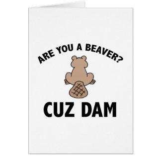 Are You A Beaver? Cuz Dam Card