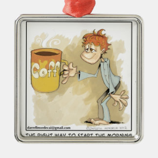 are you a coffee addict? christmas ornament