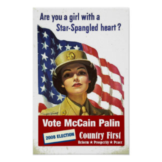 Are you a girl with a Star Spangled Heart?  Poster
