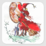 are You A Good WItch or a Bad Witch? Square Stickers