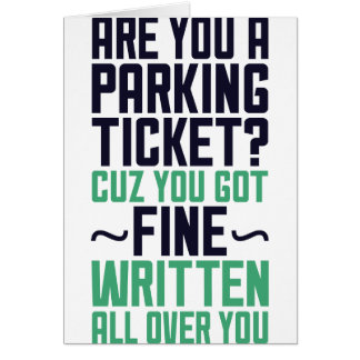 Are You A Parking Ticket Card