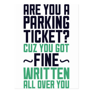 Are You A Parking Ticket Postcard