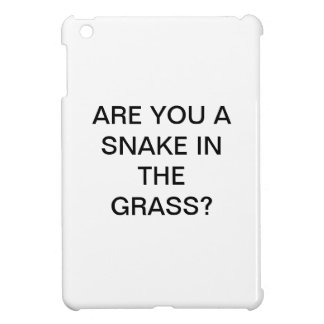 ARE YOU A SNAKE IN THE GRASS iPad MINI CASE