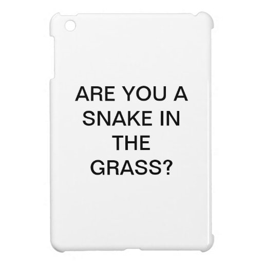 ARE YOU A  SNAKE IN THE  GRASS? iPad MINI CASE