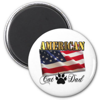 Are you an American Cat Dad? Refrigerator Magnet