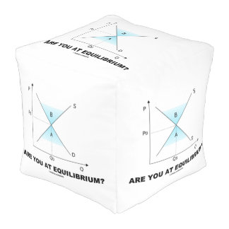 Are You At Equilibrium? Supply-And-Demand Curve Cube Pouffe
