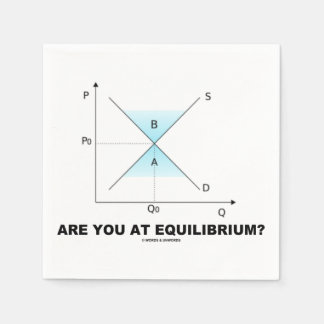Are You At Equilibrium? Supply-And-Demand Curve Disposable Napkin