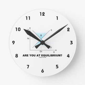 Are You At Equilibrium? Supply-And-Demand Curve Wallclocks