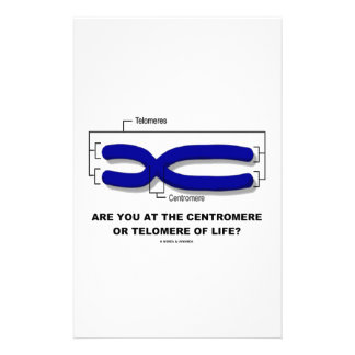 Are You At The Centromere Or Telomere Of Life? Stationery Design