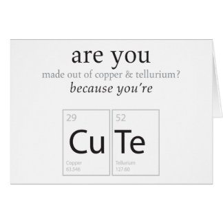 Are You Cute Nerdy Science Geek Humor Card