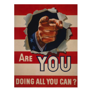 Are you doing all you can? postcard