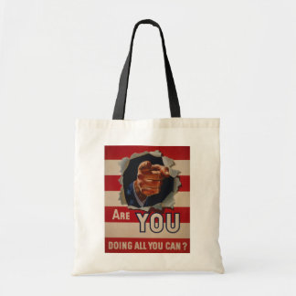 Are you doing all you can? budget tote bag