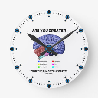 Are You Greater Than The Sum Of Your Parts? Brain Round Clock