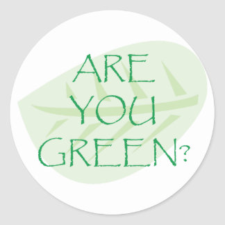 Are You Green Earth Day Stickers