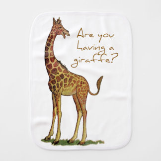 Are You Having a Giraffe? Burp Cloth