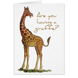 Are You Having a Giraffe? Card