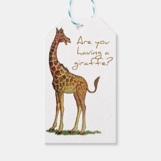 Are You Having a Giraffe? Gift Tags