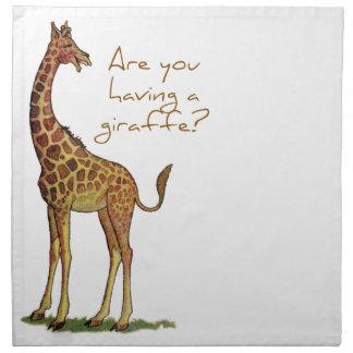 Are You Having a Giraffe? Napkin