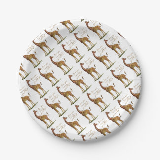 Are You Having a Giraffe? Paper Plate