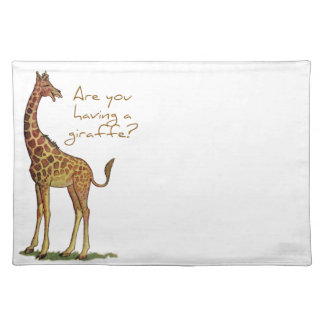 Are You Having a Giraffe? Placemat