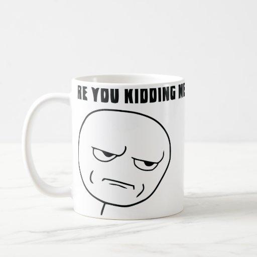 Are You Kidding Me Rage Face Meme Basic White Mug | Zazzle