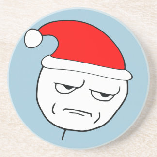 are you kidding me xmas meme drink coasters