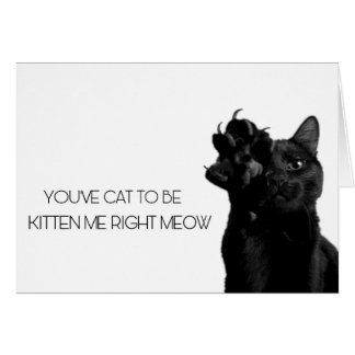 Are you KITTEN me? Card