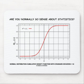 Are You Normally So Dense About Statistics? Mouse Pads