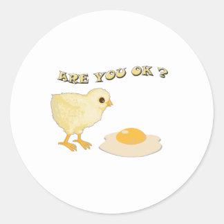 Are you o.k ? classic round sticker