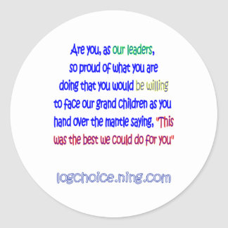 Are you proud? round sticker