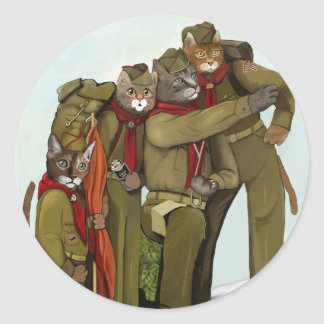 Are You PURRpared for the Adventure of Your Lives? Classic Round Sticker