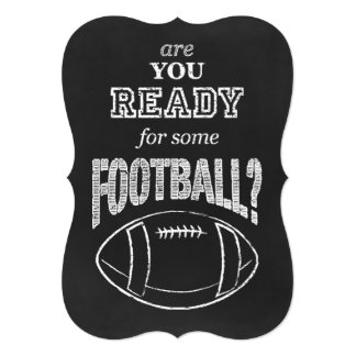 are you ready for some football? 5x7 paper invitation card