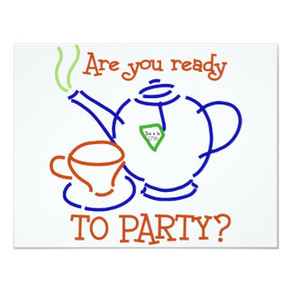 Are You Ready to Party? 11 Cm X 14 Cm Invitation Card