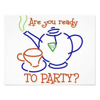 Are You Ready to Party Custom Invitation