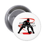 Are you serious Red Fielder Softball 6 Cm Round Badge