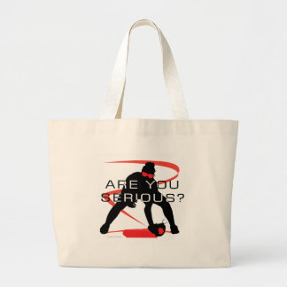 Are you serious Red Fielder Softball Jumbo Tote Bag