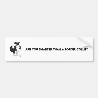 ARE YOU SMARTER THAN A BORDER CO... BUMPER STICKER