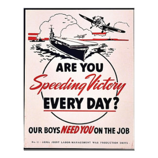 Are You Speeding Victory Every Day? 21.5 Cm X 28 Cm Flyer