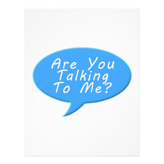 Are you talking to me 21.5 cm x 28 cm flyer